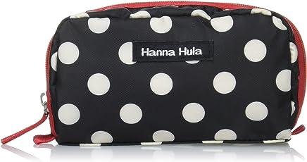 Hanna Hula シングルファスナーポーチ ポルカブラック 横17cm×縦9cm×奥行き5cm ポリエステル CSP-SF-PLK01
