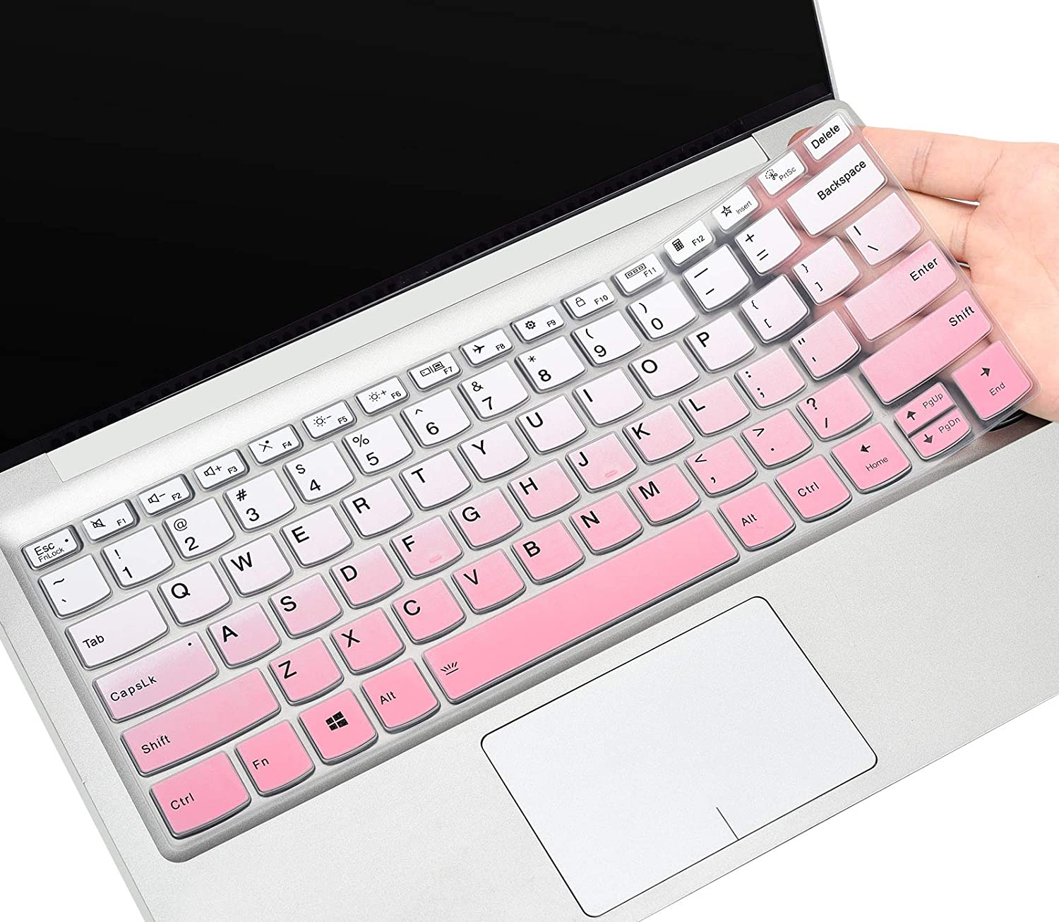Ultra Thin Silicone Protector Skin for 2020 Lenovo Flex 5 14 CaseBuy Keyboard Cover for 2020 Lenovo Flex 5 14 2-in-1 Laptop//Idepad S540 14 inch//Idepad S540 14 inch Obmre Pink