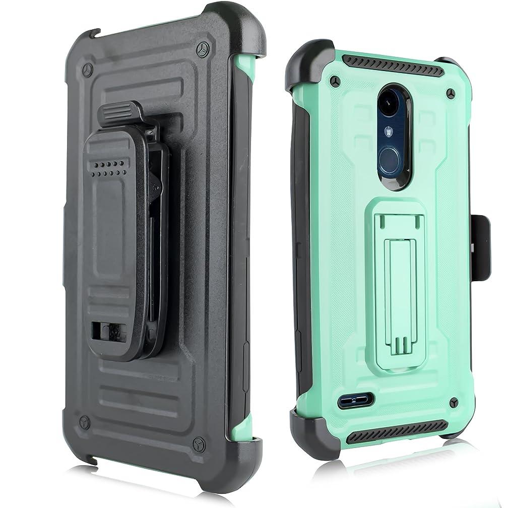 LG K30 Case,LG K10 2018 Case, Kick-Stand Rugged Heavy Duty Case Holster Belt Clip LG K30, LG K10 2018 (Teal)