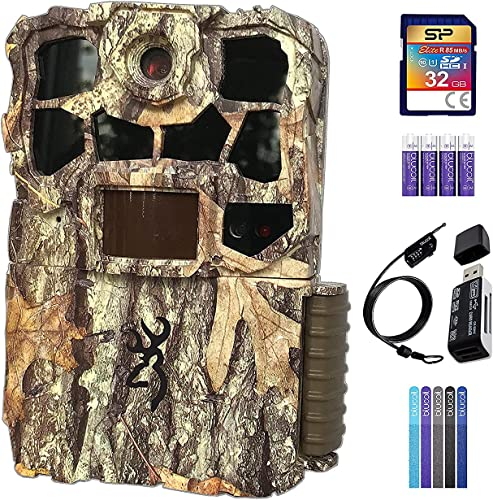 high quality Browning online sale BTC-7-4K-EDGE Recon Force 4K popular EDGE Trail Camera Bundle with 32GB SDHC Memory Card, Blucoil 4 AA Batteries, 6.5-FT Combination Cable Lock, 5-Pack of Reusable Cable Ties, and USB 2.0 Card Reader sale