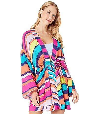 Trina Turk Catch A Wave Kimono Cover-Up (Multi) Women