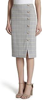 Women's Button Front Pencil Skirt