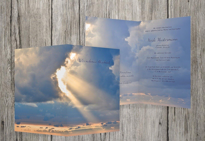 hasta un 60% de descuento Tarjeta de luto luto luto Cielo, Mitternachtsazul, 60 Karten  calidad auténtica