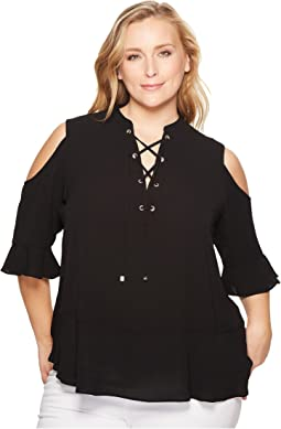 MICHAEL Michael Kors Plus Size Cold Shoulder Top