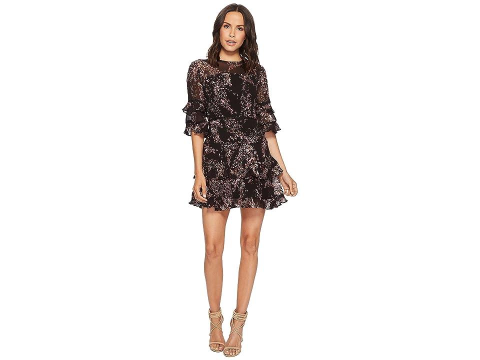 KEEPSAKE THE LABEL Light Up Mini Dress (Black Wildflower Floral) Women