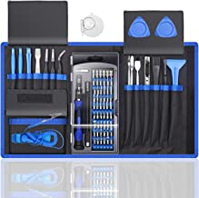 80 IN 1 Professional Computer Repair Tool Kit, Precision Laptop Screwdriver Set, with 56 Bit, Anti-Static Wrist and 24 Repair Tools, Suitable for Macbook, PC, Tablet, PS4, Xbox Controller Repair
