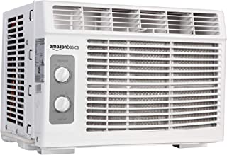 AmazonBasics Window-Mounted Air Conditioner with Mechanical Control - Cools 150 Square Feet, 5000 BTU, AC Unit (Renewed)
