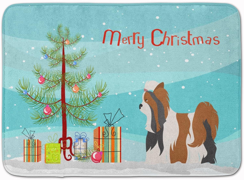 Caroline's Treasures Biewer Terrier Christmas Floor Mat, 19hx27w, Multicolor