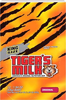 Tiger's Milk Protein Rich Nutrition Bar (10g Protein Bar, 0g Trans Fat), 55g, 1.94 oz (12 Pack)