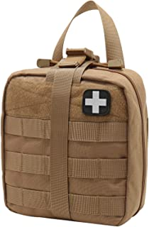 Rip-Away EMT Pouch Molle Pouch Ifak Pouch Medical First Aid Kit Utility Pouch 1000D Nylon Carlebben (with Medical Supplies Tan)