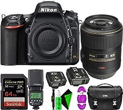 Nikon D750 DSLR Camera (Body Only) + Nikon 105mm F/2.8 VR AF-S Lens + 64GB PRO Memory Card + GODOX TTL Speedlite + Flash Trigger Transmitter/Receiver Combo