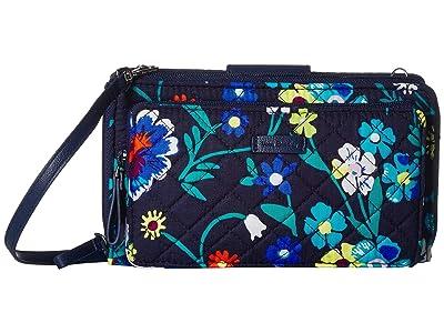 Vera Bradley Iconic Deluxe All Together Crossbody (Moonlight Garden) Cross Body Handbags