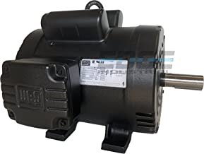 WEG 00518OS1CCD184T ODP Compressor Duty Definite Purpose Electric Motor, 5 HP, Single-Phase, 1745 RPM, 208-230 V, 60 Hz, Frame 184T