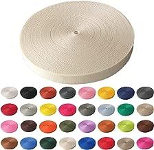 Kraftz/® Noir Polypropyl/ène Sangle en toile 38/mm x 1/m ruban adh/ésif multi-usage pour DIY Craft Ceinture Sac /à dos cerclage Tablier fanions
