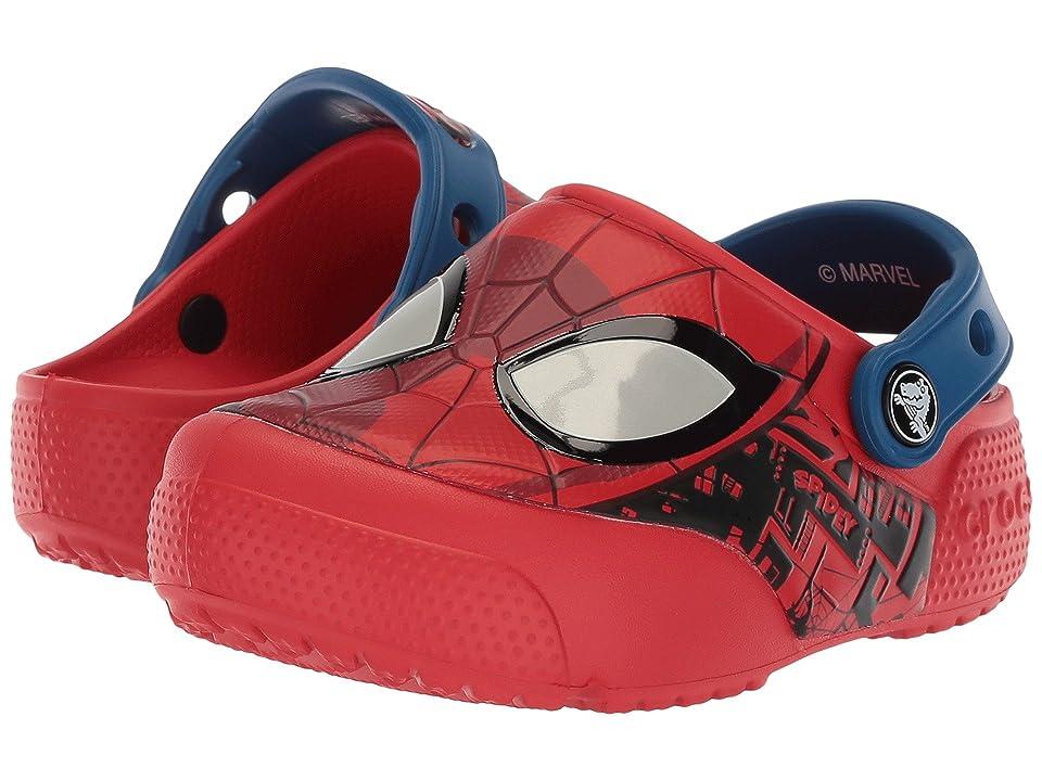 Crocs Kids CrocsFunLab Lights Spider-Man (Toddler/Little Kid) (Flame) Boy