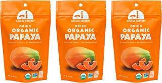 Mavuno Harvest Direct Trade Organic Dried Fruit, Papaya, 3 Count