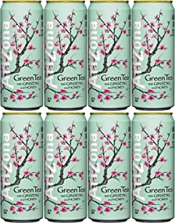 Arizona Tea Green Tea, 23 Fl Oz Tall Cans (Pack of 8, Total of 184 Oz)