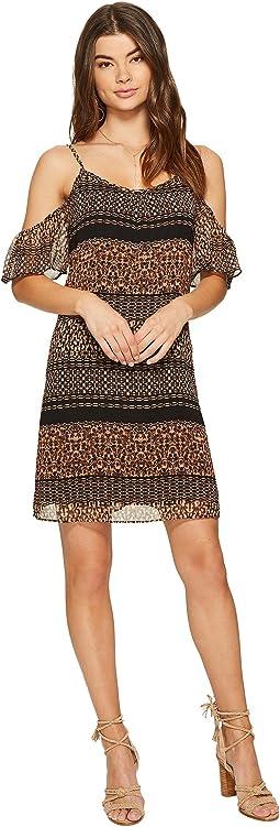kensie - Animal Mash Up Cold Shoulder Dress KS7K7164