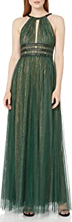 BCBGMax Azria Women's Jasmina Knit Halter with Lace Illusion and Grommet Details