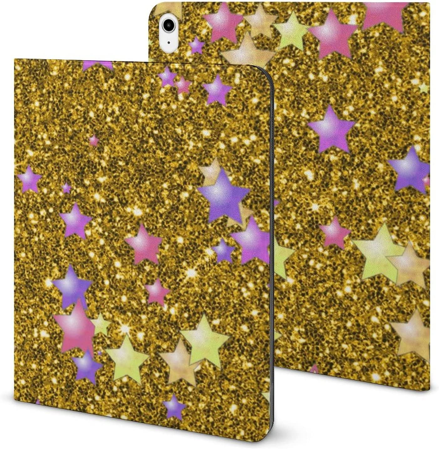 Stars on Sparkling Glitter Print Golden Max 82% OFF Case with Slot Ipad Pen Ranking TOP11