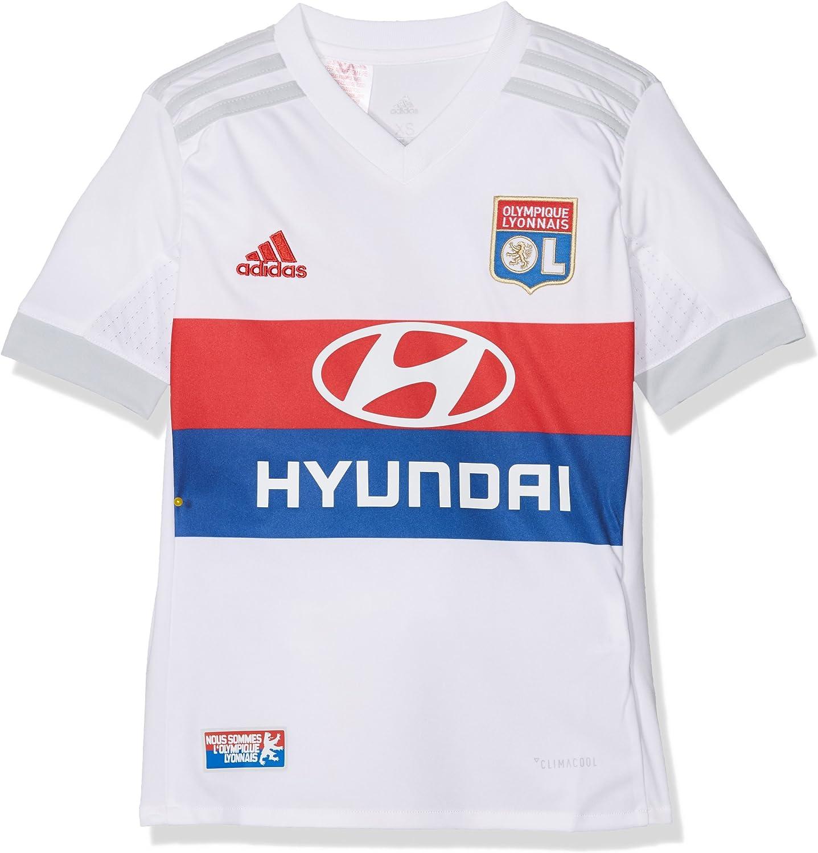adidas Replica Home Camiseta 1ª Equipación Olympique de Lyon 2017-2018, Niños: Amazon.es: Ropa y accesorios