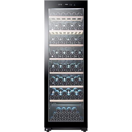 Haier WS171GA refroidisseur à vin Autonome Noir 171 bouteille(s) Refroidisseur de vin compresseur A - Cave à vin electrique (Autonome, Noir, Noir, 7 étagères, 1 portes(s), Noir)