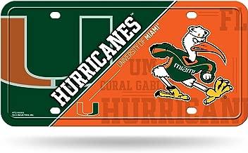 miami hurricanes car tags
