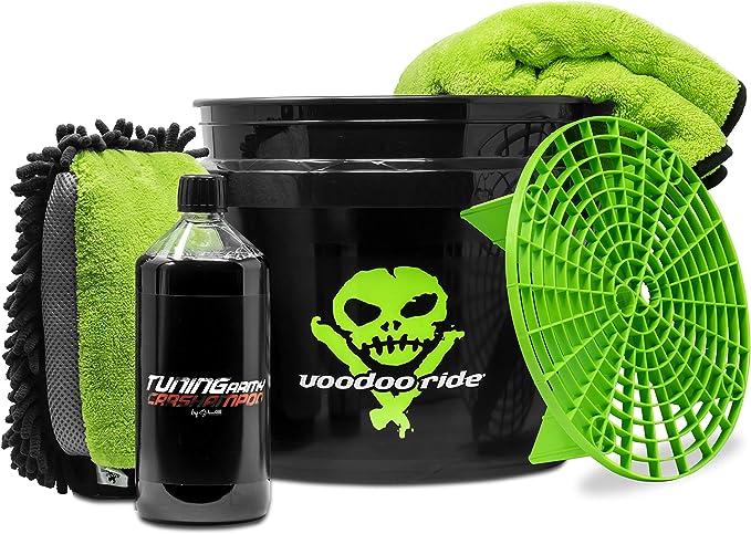 Detailmate Auto Wasch Set Voodoo Ride Us Gallonen Bucket 12l Gritguard Schmutzeinsatz 3in1 Waschhandschuh Liquid Elements Autoshampoo Tuning Army Valetpro Trockentuch 50x80cm Auto