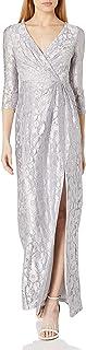 فستان دانتيل ملفوف بأكمام طويلة للنساء من Adrianna Papell