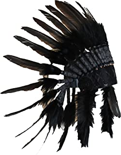 Native American Indian Inspired Feather Headdress(Length: Short)