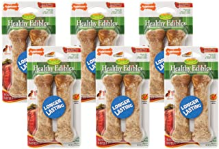 Nylabone 6 Pack of Roast Beef Healthy Edibles Chew Treats, 2 Regular Each