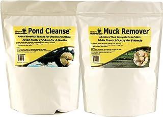 Natural Pond Cleaner Pack   Pond Clarifier Packets & Muck Reducer pellets   Farm Pond Treatment