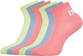 oodji Ultra, Mujer Calcetines Tobilleros (Pack de 6), Multicolor, 38-40