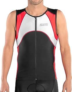 SLS3 Mens Triathlon Top - Triathlon Shirt Mens - Tri Jerseys - Tri Top Men - Men's Tri Top - Sleeveless Bike Jersey - Designed by Athletes for Athletes