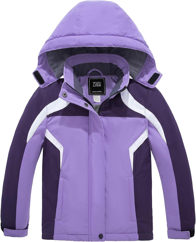 Factory outlet ZSHOW Manufacturer OFFicial shop Girls' Mountain Ski Jacket Waterproof Fleece Rainproof Lin