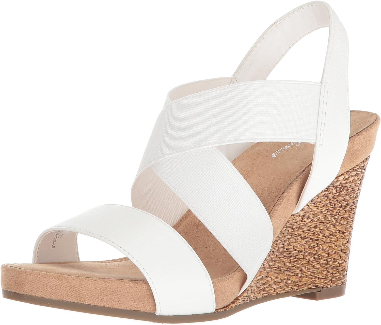Aerosoles Womens Lotus Plush Wedge Sandal
