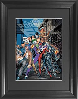 Batman Villains Forever Evil 3D Poster Wall Art Decor Framed Print | 14.5x18.5 | Lenticular Posters & Pictures | Memorabilia Gifts for Guys & Girls Bedroom | DC Comic Book Classic Hero Movie Fan Photo