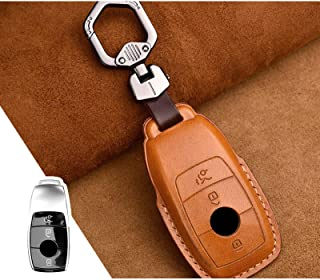 ل Mercedes benz W177 W205 W213 W222 2018 A C S GLS Class E ، 1Pcs Leather Genuine Key Cover Case