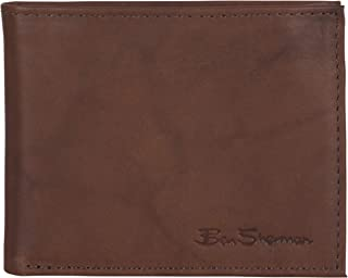 Manchester Full Grain Marble Crunch Leather Passcase Wallet With Flip Up ID Window (RFID), Brown