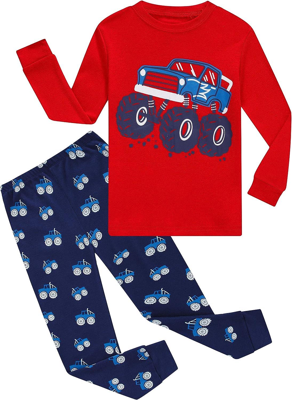 Boys Pajamas Set for Boys Kids Pjs Cotton Sleepwears