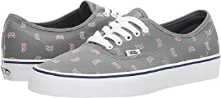 aae17093b5e Vans Men s X MLB Authentic (MLB) Boston Red Sox Gray Skateboarding Shoes