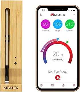 Original MEATER | 33ft True Wireless Smart Meat Thermometer for The Oven Grill Kitchen BBQ Rotisserie with Bluetooth and WiFi Digital Connectivity
