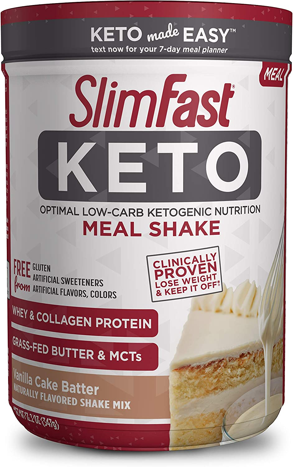 SlimFast 5 ☆ very popular Keto New product!! Meal Replacement Shake Cake - Powder Vanilla Batte
