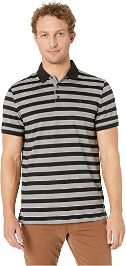 Short Sleeve Striped Polo