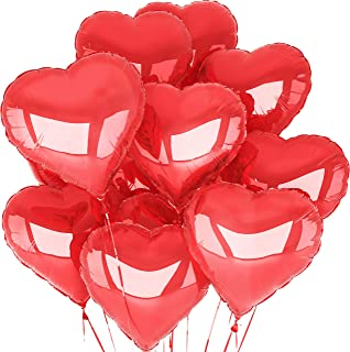 Red Heart Balloons (12 Pack) Anniversary Decorations Valentines Day Balloons