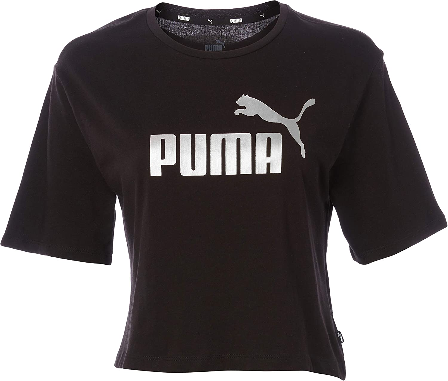 PUMA Women's Essentials Cropped Tee at Amazon Women's Clothing store