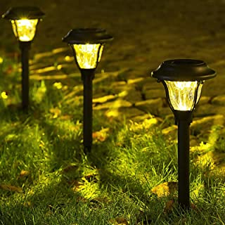 GIGALUMI Solar Pathway Lights Outdoor, Wireless LED Solar Garden Lights, Waterproof Solar Path Lights for Outdoor Patio, Y...