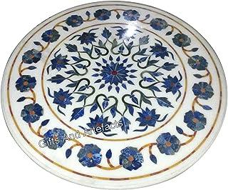 27 pulgadas redondo de la mesa de centro de mármol blanco de la parte superior de la mesa de centro de las piedras semi pr...