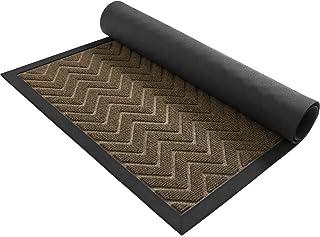 DEXI Durable Front Door Mat, Waterproof, Low-Profile, Heavy Duty Doormat for Indoor Outdoor, Easy Clean Rug Mats for Entr...