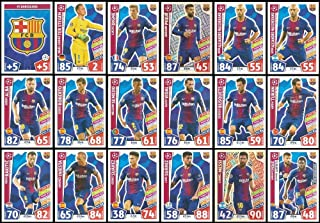 Match Attax Champions League 2017/18 Barcelona Full 18 Card Set 17/18